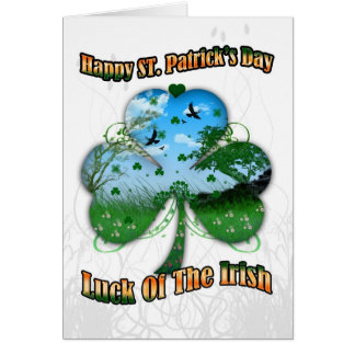 St. Patrick's Day, Luck Of The Irish View Inside S Greeting Card