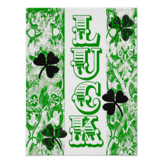 St. Patrick's Day Luck Poster