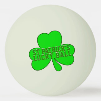 St Patrick's Day Lucky Glow in the Dark Ball