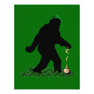 St Patrick's Day Lucky Sasquatch Personalized Announcement