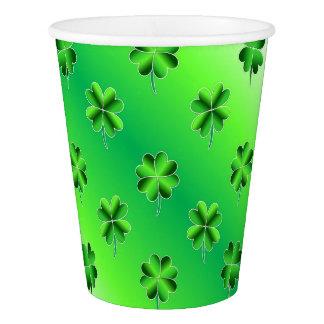 St. Patrick's Day Lucky Shamrocks Paper Cups