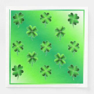 St. Patrick's Day Lucky Shamrocks Paper Napkins