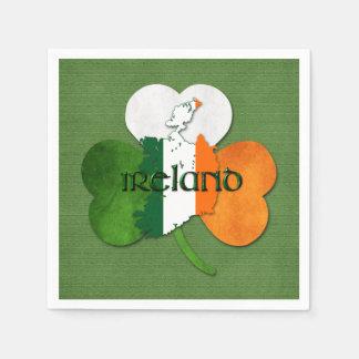 St. Patrick's Day Map of Ireland/Clover Disposable Serviette