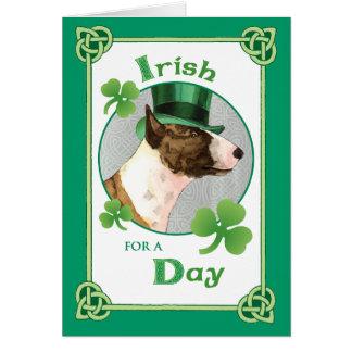 St. Patrick's Day Mini Bull Terrier Card