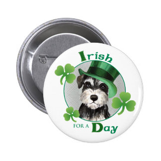 St. Patrick's Day Miniature Schnauzer 6 Cm Round Badge