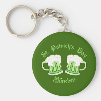 St. Patrick's Day Munich Basic Round Button Key Ring