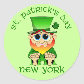 St Patricks Day ~ New York lil Blarney Classic Round Sticker