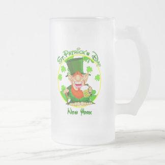 St Patrick's Day  New York Mugs