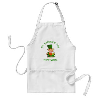 St Patrick's Day ~ New York  Patty O party Adult Apron