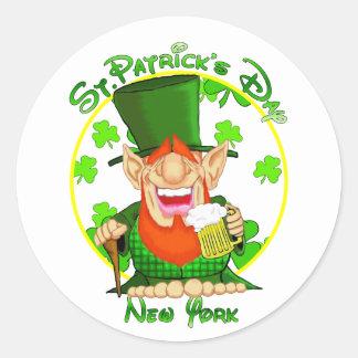 St Patrick's Day New York Sticker