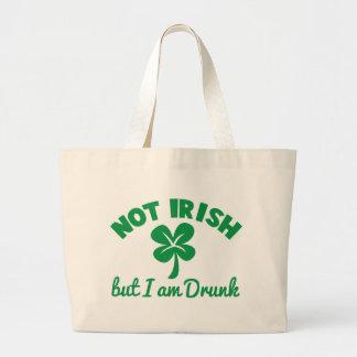 ST PATRICKS DAY NOT IRISH but I am drunk design Tote Bag