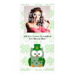St. Patrick's Day Owl Photo Card