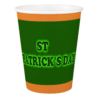 ST PATRICK'S DAY  Paper Cup, 9 oz Paper Cup