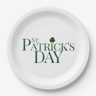 ST PATRICKS DAY PAPER PLATE, ST PATRIC CELEBRATION PAPER PLATE