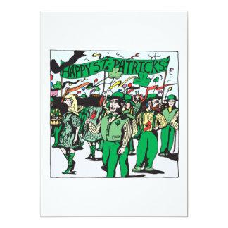 St Patricks Day Parade 13 Cm X 18 Cm Invitation Card