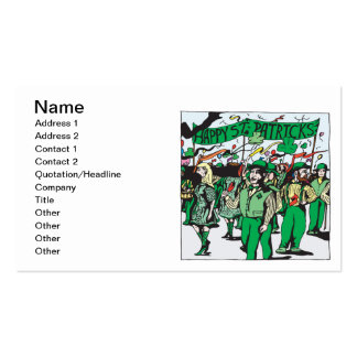 St Patricks Day Parade Pack Of Standard Business Cards