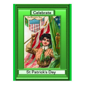 St Patrick's Day Parade Postcard