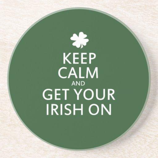 St Patricks day Parody Beverage Coaster