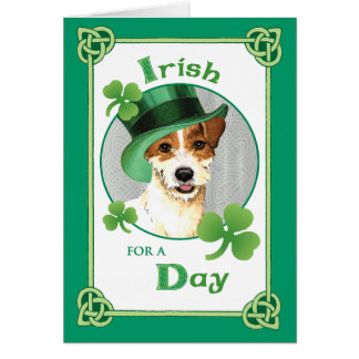 St. Patrick's Day Parson Russell Terrier Card