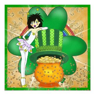 "St. Patrick's Day Party Invitation - SRF 5.25"" Square Invitation Card"