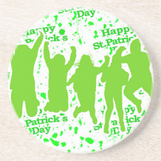 St Patricks Day Party Poster Coaster