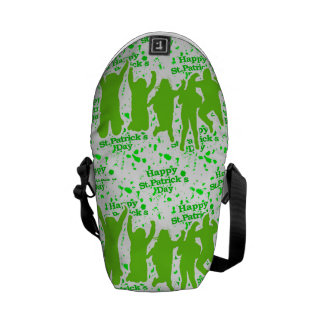 St Patricks Day Party Poster Commuter Bags
