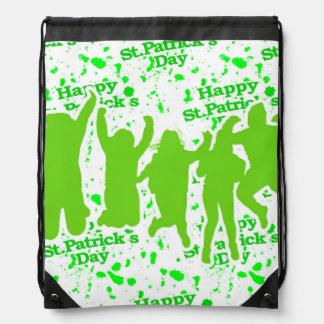 St Patricks Day Party Poster Drawstring Bag