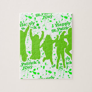 St Patricks Day Party Poster Jigsaw Puzzle