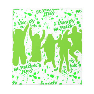 St Patricks Day Party Poster Notepad