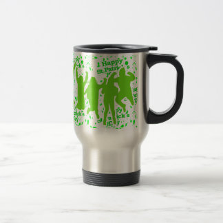 St Patricks Day Party Poster Travel Mug