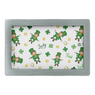 St Patricks day pattern Belt Buckle