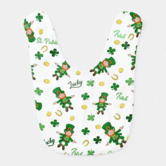 St Patricks day pattern Bib