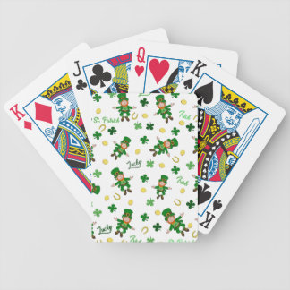 St Patricks day pattern Bicycle Playing Cards