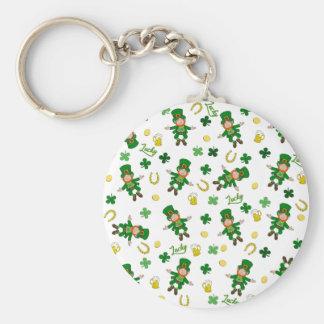 St Patricks day pattern Key Ring