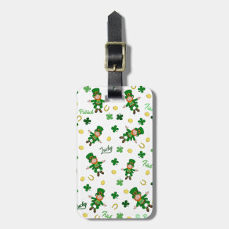St Patricks day pattern Luggage Tag