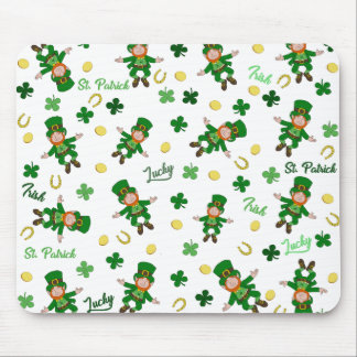 St Patricks day pattern Mouse Pad