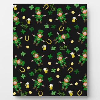 St Patricks day pattern Plaque