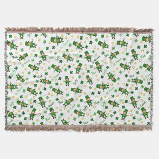 St Patricks day pattern Throw Blanket
