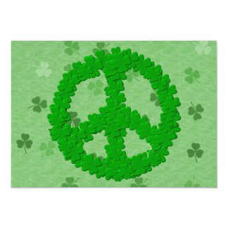 St Patrick's Day Peace Sign Card