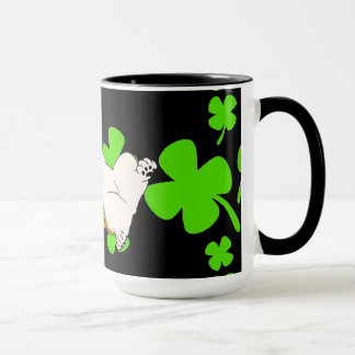 St Patrick's Day Pembroke Welsh Corgi Cartoon Mug