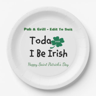 St. Patrick's Day Personalized Paper Plate