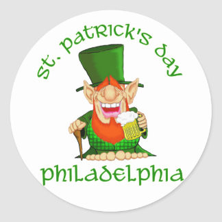 St Patricks Day ~ Philadelphia Classic Round Sticker