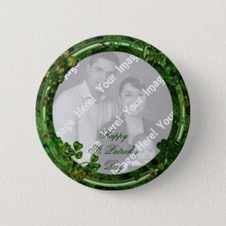 St. Patrick's Day Photo Button