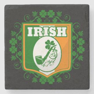 St Patricks Day Pipe Stone Coaster