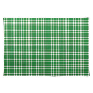St. Patricks day plaid pattern Placemat