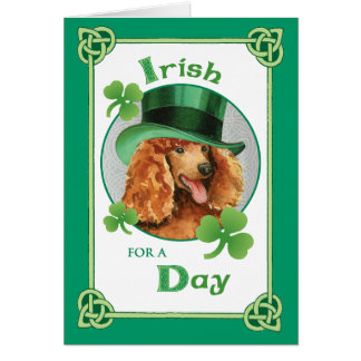 St. Patrick's Day Poodle Greeting Card
