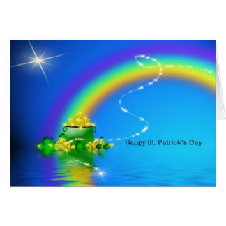 St. Patrick's Day - Pot of Gold Card