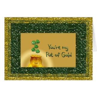 St. Patrick's Day Pot of Gold - Love Romance Card