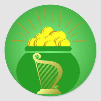 St Patrick's Day Pot of Gold Sticker