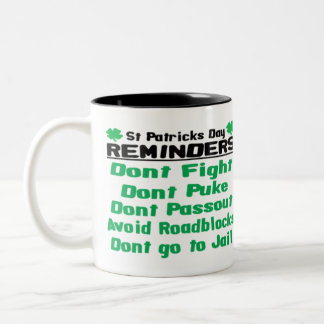 St Patricks Day Reminders Two-Tone Coffee Mug